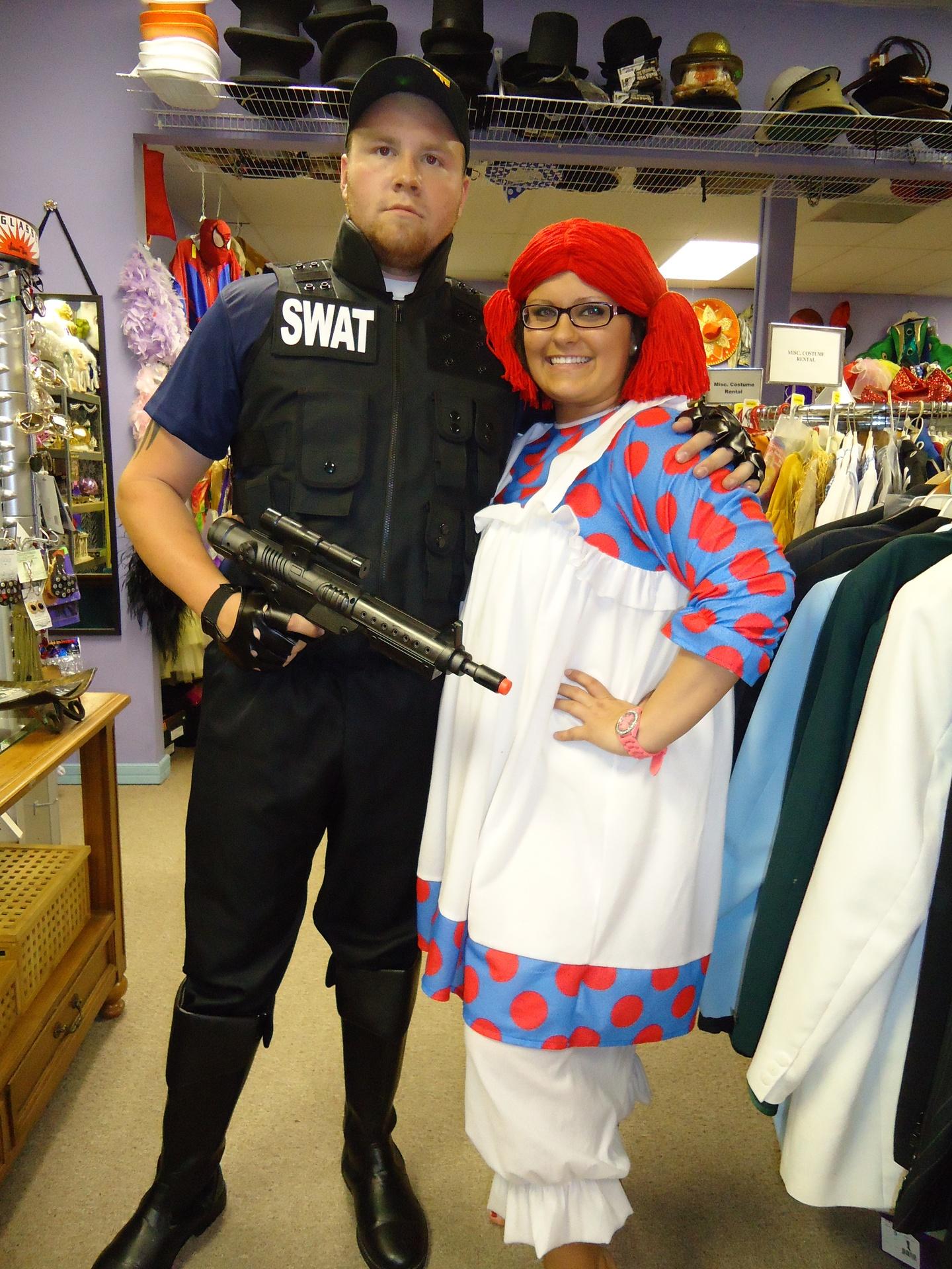 Swat  arresting Raggedy Ann
